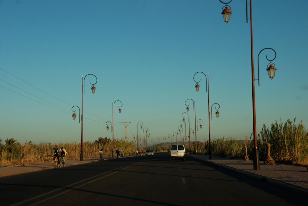 Einfahrt nach Ouarzazate