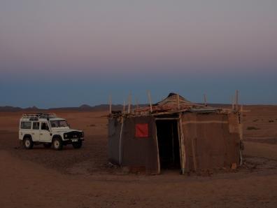 Abendstimmung und Nomadenzelt