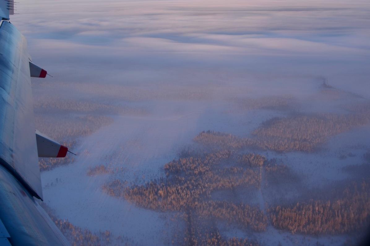 Anflug auf Rovaniemi