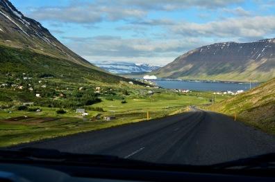 Anfahrt nach Ísafjörður