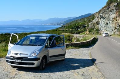Küstenstrasse entlang des Cap Corse