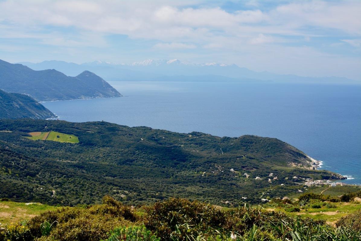 Blick auf die Ostküste des Cap Corse