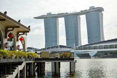 Blick auf das Hotel Marina Bay Sands