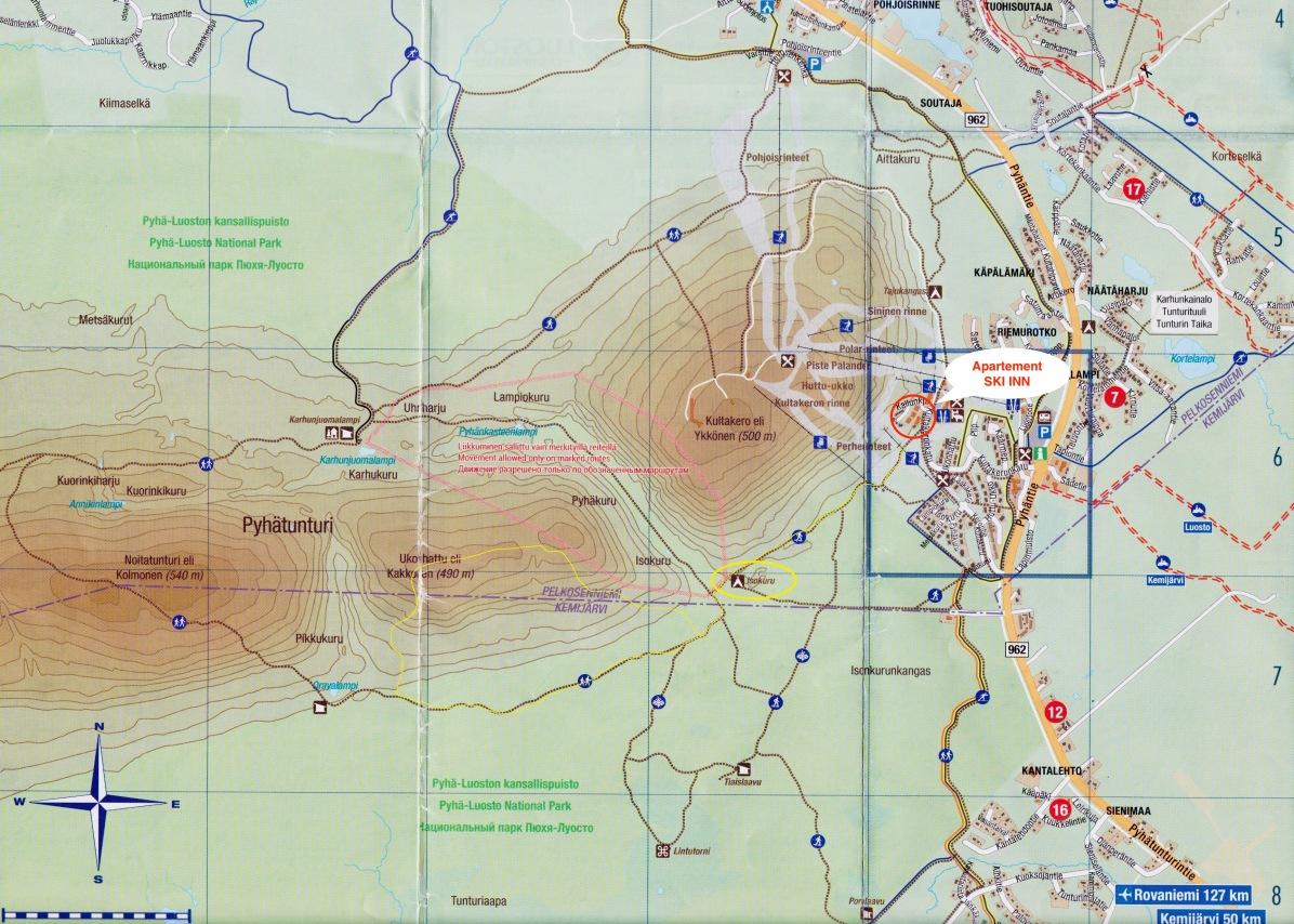 Karte Pyhä